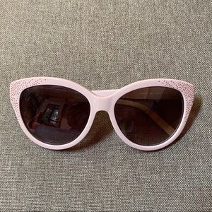 Chloè Studded Cat Eye Glasses Beige